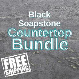 Black SoapStone Countertop Bundle