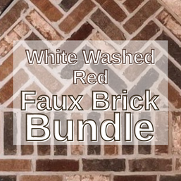 White Washed Red Faux Brick Bundle